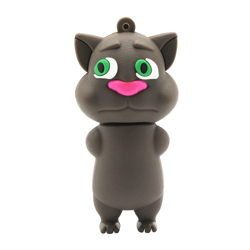 BiNFUL Cute Cartoon Talking Cat Model Usb2.0 4GB 8GB 16GB 32GB 64GB Pen Drive USB Flash Drive Creative Gifty Stick Pendrive