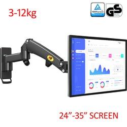 Nb novo f300 3-12kg monitor de mola de gás de alumínio movimento total 2 braço tv suporte de parede lcd 24