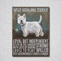West Highland Terrier жестяной знак металлический плакат металлический декор металлическая живопись Настенная Наклейка настенный знак Настенный де...