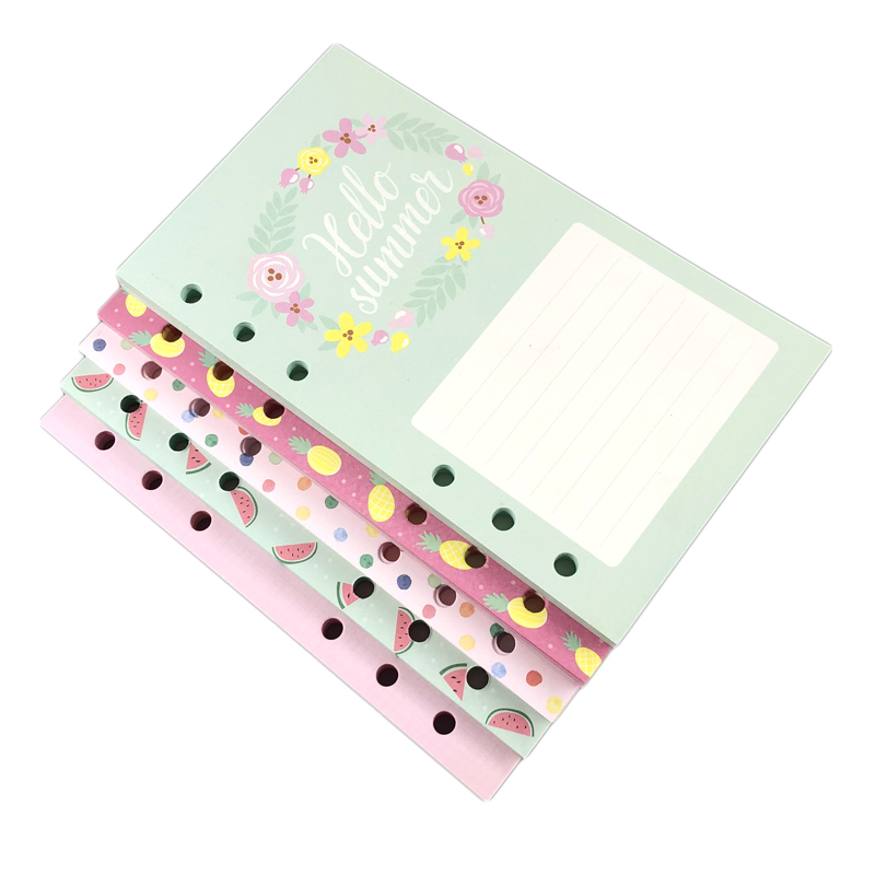Lovedoki Cute Weekly Monthly Planner Refill Diary Journal Filler Paper For Filofax A56A7 Spiral Notebooks Stationery Accessories