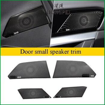 For Volkswagen Touareg 2019 Car Interior Door Handle Audio Speaker Sound Cover Decorating moldings Cover Sticker Trim Decoration