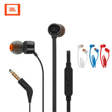 Original for JBL T100 wired in-ear headphones, stereo, sports headphones, with microphone and subwoofer Waterproof earphones