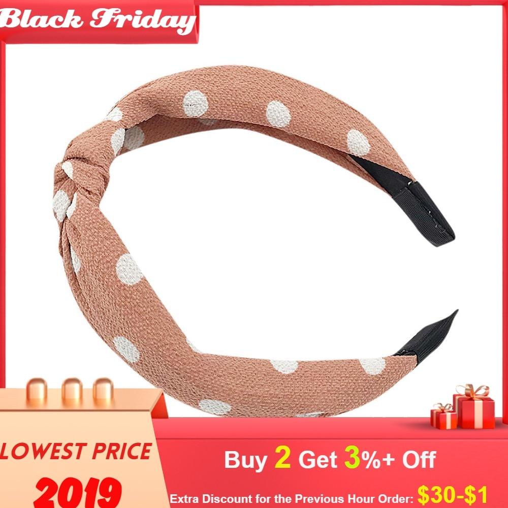 Headband Hair Bows Vintage Girl Lady Knot Headband Hairband Ribbon Wire Tartan Retro Scar Headband