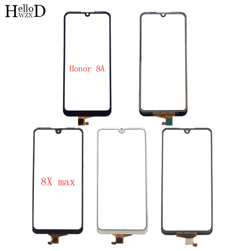 Touch Screen Panel For HUAWEI Honor 8A Honor8A JAT-AL00 Play 8A JAT-L29 Honor 8X Max Digitizer Panel Front Glass Sensor 3M Glue