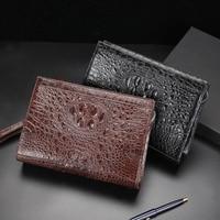 hujingsha Autumn new crocodile leather skin men bag men hand bag business leisure zipper large capacity Genuine leather men bag