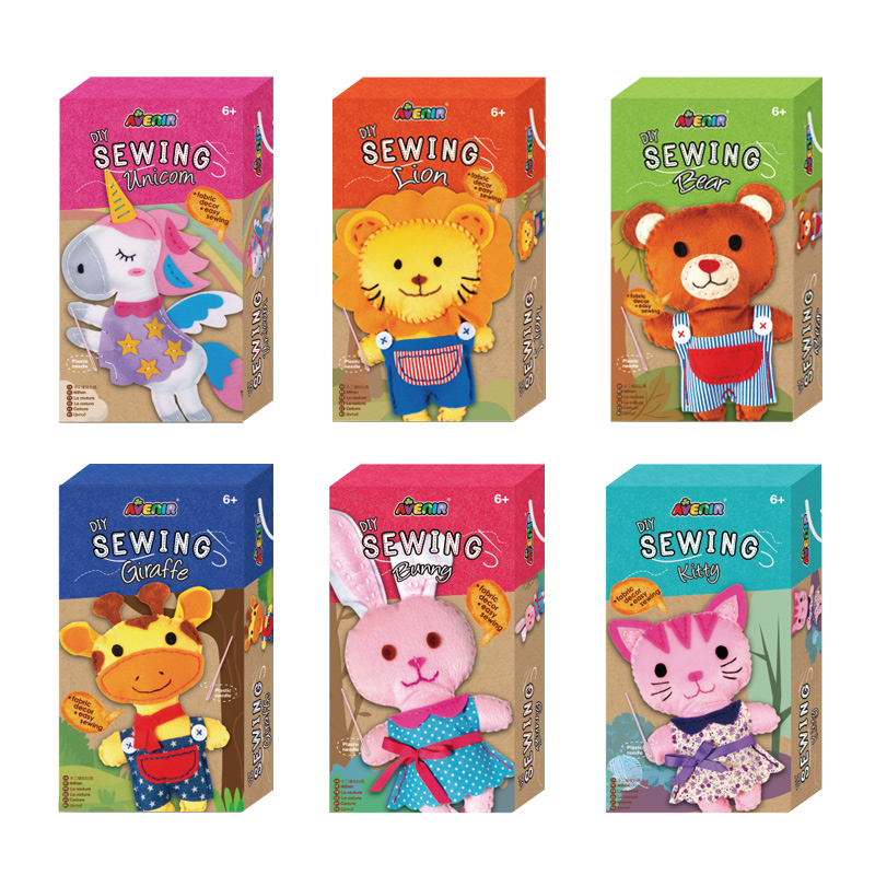 Parrowbebe Easy Sewing Toy 6Y+ Children Hand-sewn Small Doll Fabric Decor Girl Kids DIY Creative Material Kit Free Shipping