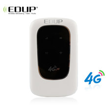 EDUP 4G LTE Router Mobile WiFi Hotspot 4G 150Mbps Modem Portable Router 3G 4G Wi-Fi Router With Sim Slot Car Broadband(China)