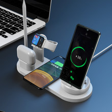 7-IN-1 Wireless High Quality Outstanding Design Fast Charging For Airpods Earphone Watch Portable Multifunctional Charger(China)