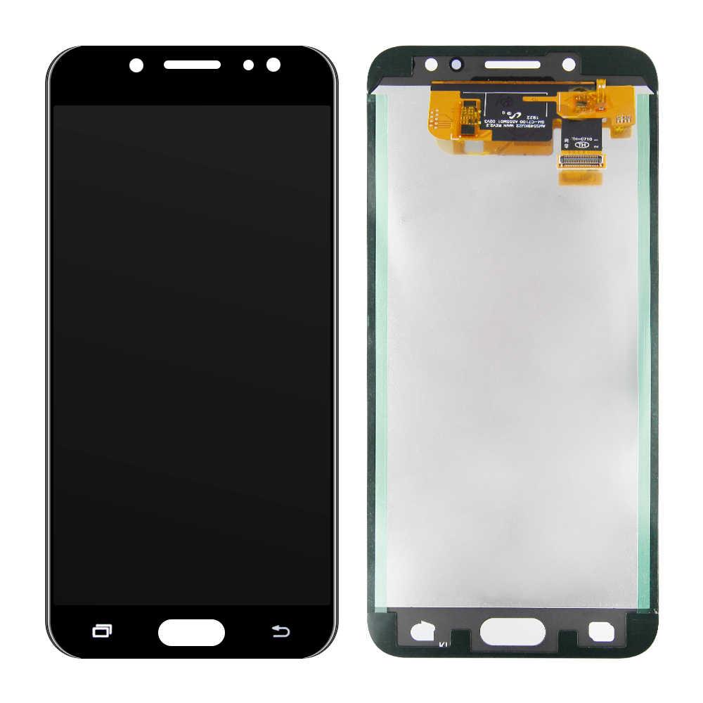لسامسونج غالاكسي C7 2017 C8 C7100 C710 C710F/DS J7 + J7 زائد شاشة LCD تعمل باللمس محول الأرقام الجمعية