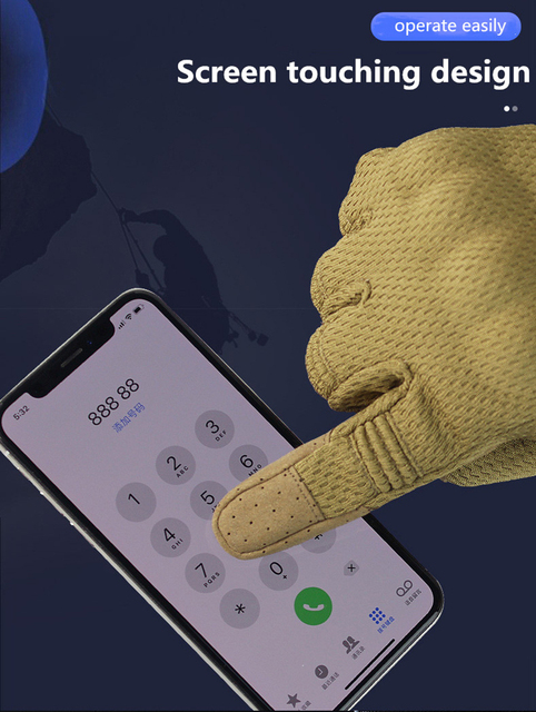 Cycling gloves touch screen tactic