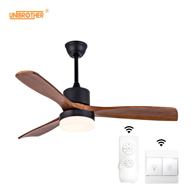 Charitable Led Ceiling Fans Lamp For Living Room 220v Wooden Ceiling Fan With Lights 42 48 52 Inch Blades Cooling Remote Dimming Lamp