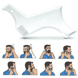 Image 2 - New Arrivals Men Beard Shaping Styling Template Comb Transparent Mens Beards Combs Beauty Tool for Hair Beard Trim Templates