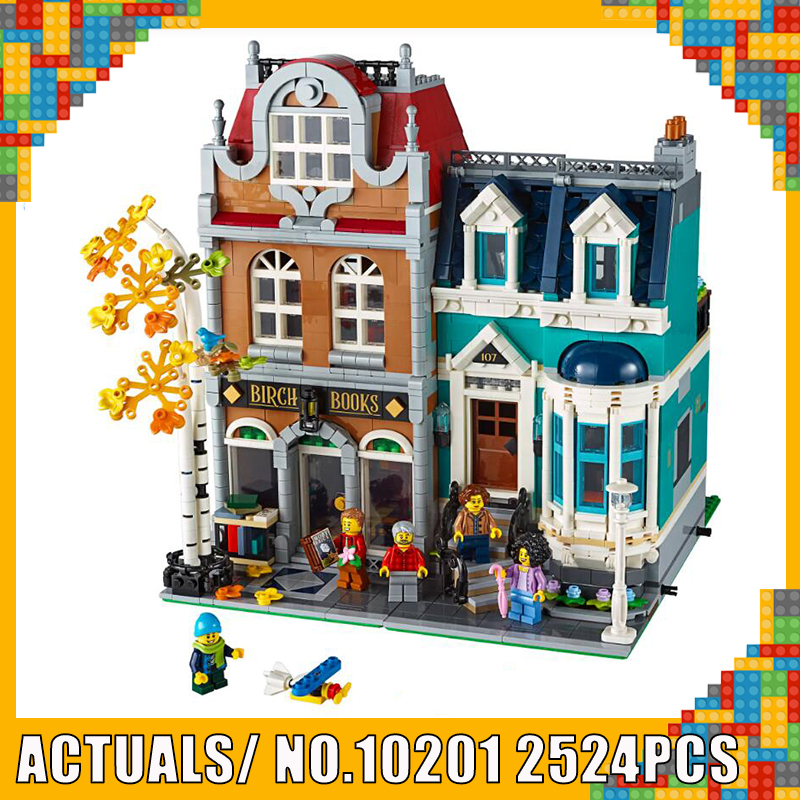 Creator Architecture City Expert Street View 10270 2524PCS For European Style Bookshop Building Blocks Compatible LEGOED Toy
