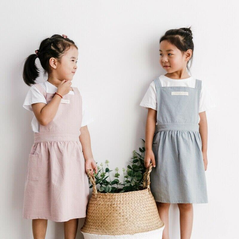 Children Kids Apron Pocket Adjustable Chefs Kitchen Cooking Craft Art Plain Bib 2019 New Aprons