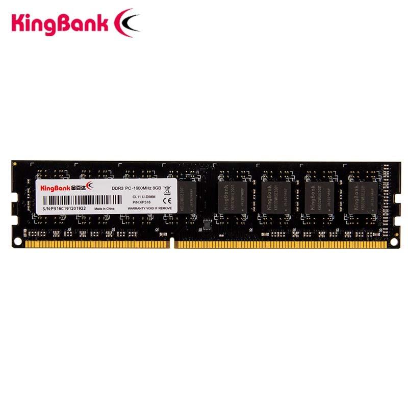 Kingbank DDR3 8GB 4GB memoria 1600Mhz 240pin 1,5 V ram dimm con intel AMD plataforma