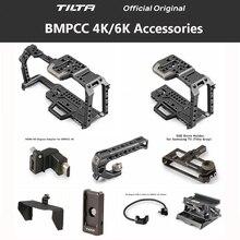 Tilta TA T01 A G Volledige Camera Kooi Alle Set Accessoires Voor Bmpcc 4K 6K Camera Top Handvat Houten Side Handvat f970 Batterij Plaat