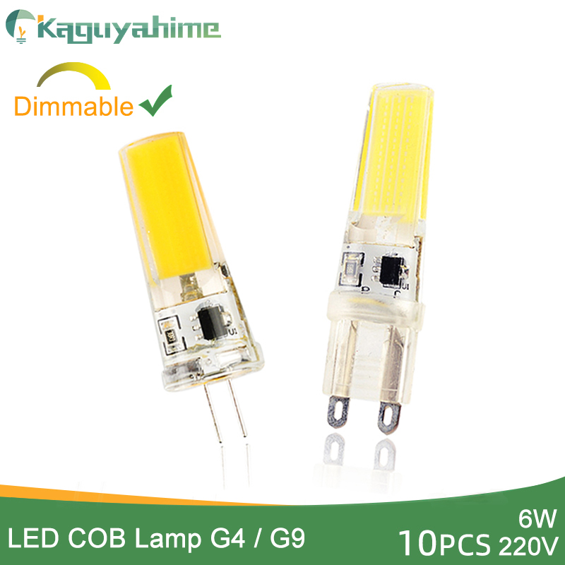 Kaguyahime <font><b>LED</b></font> <font><b>G9</b></font> G4 COB Bulb 10Pcs Dimmable Lamp AC <font><b>220V</b></font> 240V 6W <font><b>LED</b></font> G4 <font><b>G9</b></font> Lamp replace Halogen Lampada Bombillas Spot <font><b>Ampoule</b></font> image