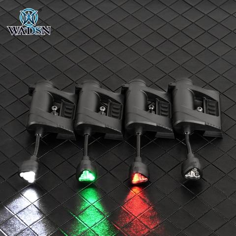 wadsn tec carga pro mpls capacete lanterna vermelho verde branco ir 4 modo tatico luz