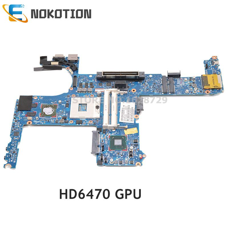 NOKOTION 642754-001 6050A2398501 For HP EliteBook 8460P Laptop Motherboard HM65 DDR3 HD6470 Graphics