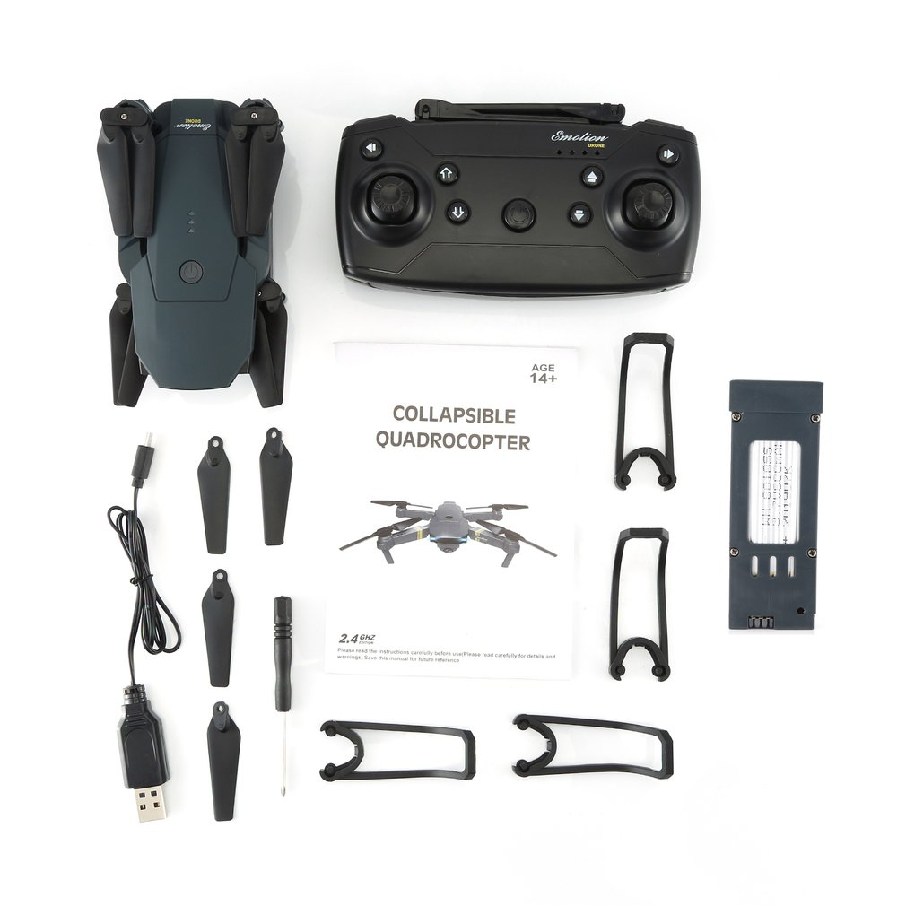 LX808 2.4Ghz WIFI FPV Foldable RC Drone With Wide Angle HD Camera Altitude Hold Headless Mode RC Model Aircraft RTF 2