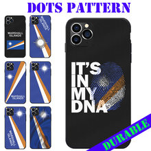 Dots Berpola TPU Ponsel Case untuk Iphone 6 7 8 S XR X Ditambah 11 Pro Max Marshall Islands National bendera Lambang(China)