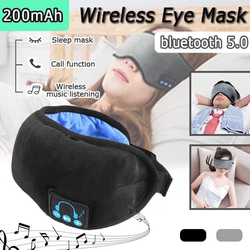 3D Sleep Headphone bluetooth 5.0 Wireless Sleep Mask Travel Sleeping Eye Mask Earphone Eyeshade Cover Built-in HD Speaker Mic