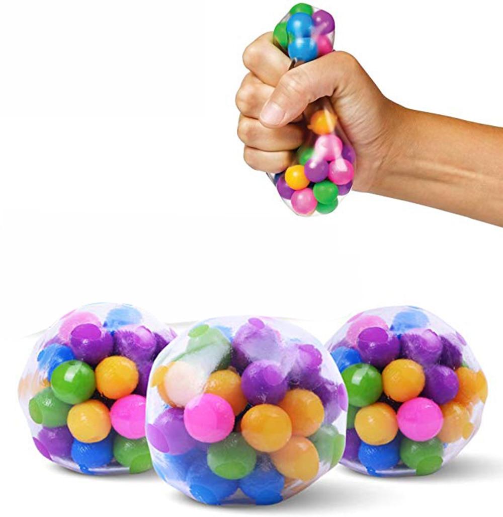 1/3 adet temizle stres topları renkli topu otizm ruh sıkmak rölyef sağlıklı oyuncak komik Gadget Vent oyuncak çocuk noel hediyesi