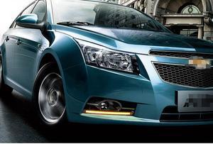 Image 5 - הפעל אות עמעום סגנון ממסר 12V רכב LED DRL בשעות היום ריצת אורות עבור שברולט cruze 2009   2012 עם ערפל מנורת חור