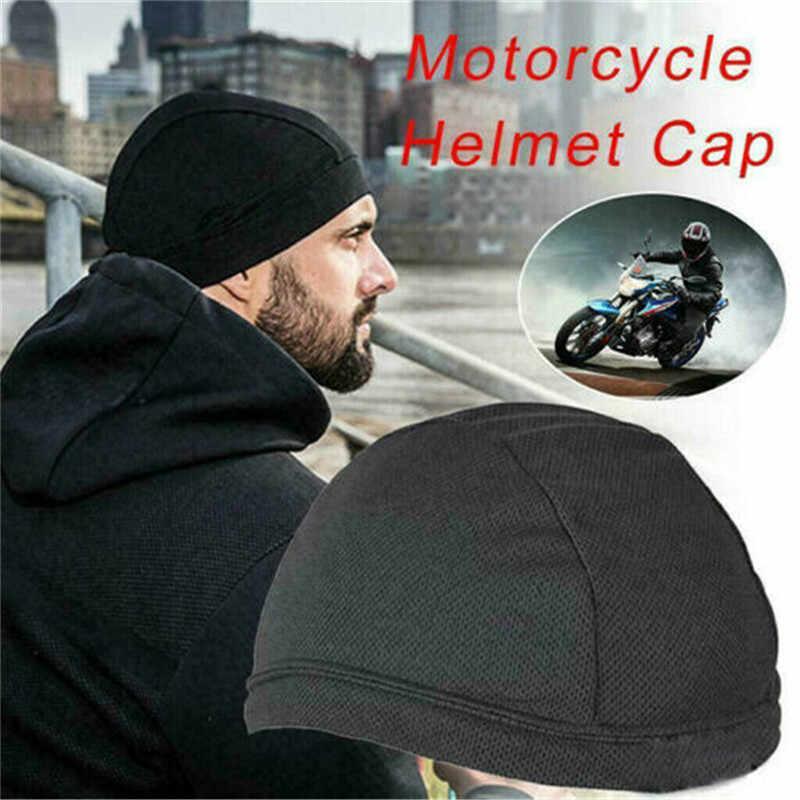 1PC poliester odprowadzający wilgoć Cap wewnętrzna kask czapka czapka kopuła opaska Quick Dry oddychająca czapka kask motocyklowy