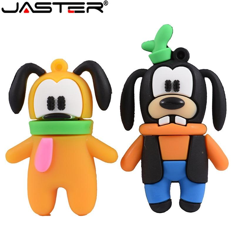 JASTER Mickey And Goofy Pluto USB Flash Drive Pen Drive Animal Cartoon Pendrive 4GB/16GB/32GB/64GB Exquisite Pendrive Funny Usb