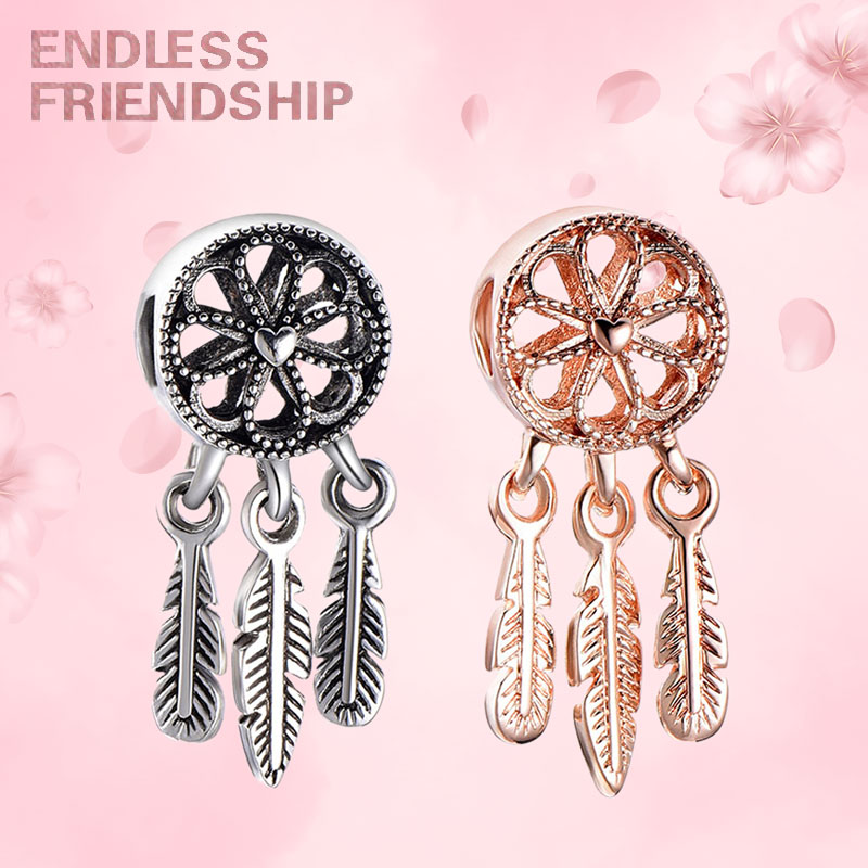 pandora charms rose gold and silver