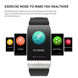 Image 5 - 2020 Fitness Tracker T1s EKG + PPG Körper Temperatur Wasserdicht Heart Rate Monitor Smart Band Wetter Prognose Smart Armband Sport
