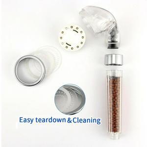 Sprinkler-Sprayer Shower-Head Bath Hand-Held Great-Water-Pressure LED Color Tempreture-Control