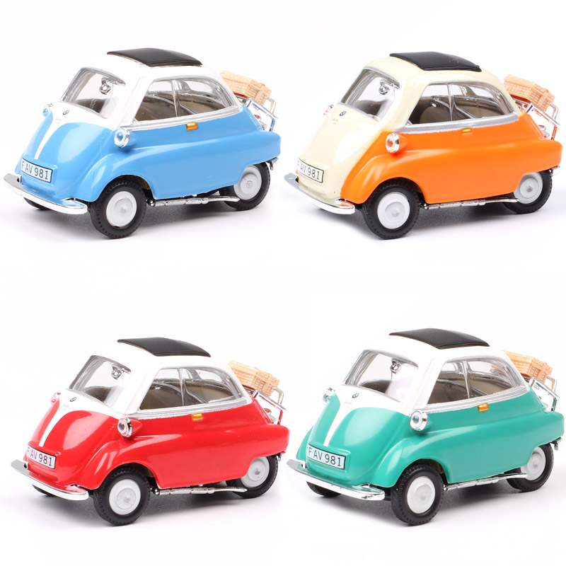 Cararama Mini Cute Classics 1/43 Scale Isetta 250 Microcar Bubble Car Diecast Vehicles Model For Baby Boys Gifts Miniatures 1955