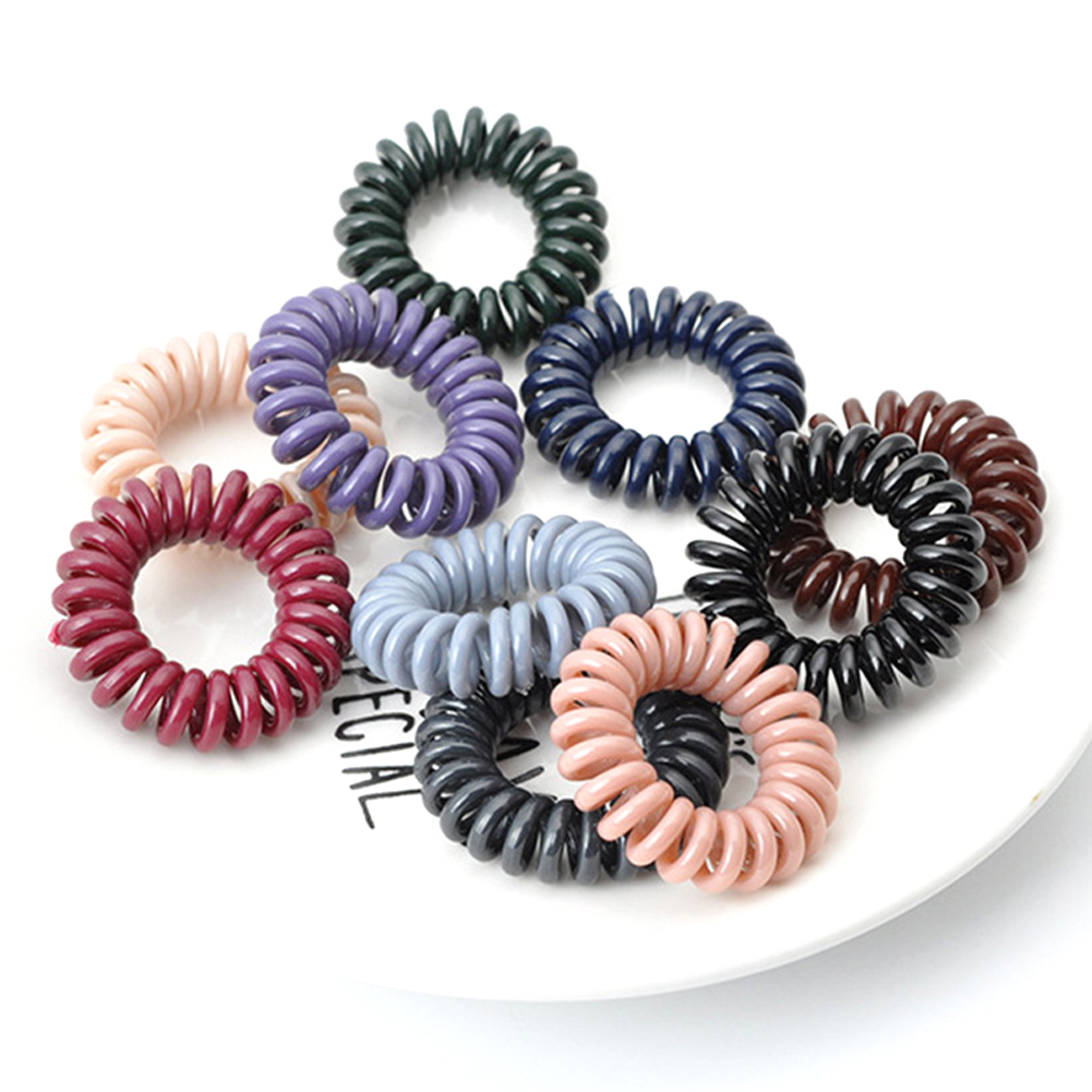 Rope Telephone Coil-Hairbands Scrunchy Hair-Accessories Girls High-Elasticity Solid-Color