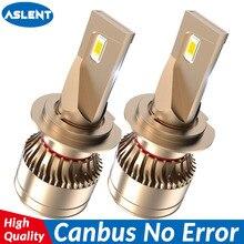 ASLENT faro led para coche, sin Error, h7, canbus, H4, LED H1, H8, H11, HB3, HB4, 9005, 9006, 9012, 60W, 20000lm, 6500K, bombillas de luz antiniebla