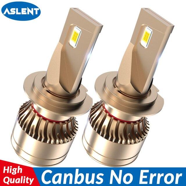 ASLENT רכב פנס אין שגיאת h7 led canbus H4 LED H1 H8 H11 HB3 HB4 9005 9006 9012 60W 20000lm 6500K אוטומטי מנורת ערפל אור נורות