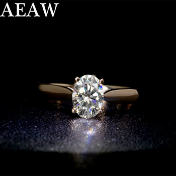 10K White Gold 925 Sterling Silver Ring Carat 1ct GH Color 18K Diamond ring jewelry Moissanite Ring image