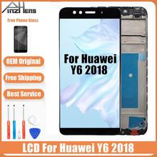 AAAA Original LCD For Huawei Y6 2018 LCD Display Frame Touch Screen For Y6 2018 LCD Screen ATU L11 L21 L22 LX1 LX3 L31 L42(China)