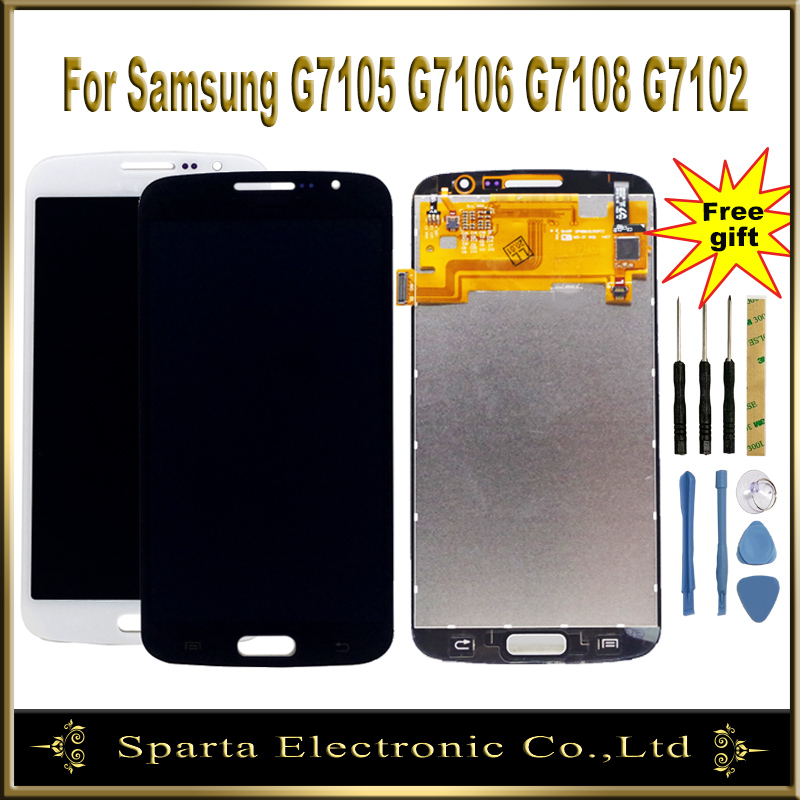 Sparta LCD Display For Samsung Galaxy Grand 2 Duos G7102 G7105 G7106 G7108 LCD Display Screen With Touch Screen Assembly|Mobile Phone LCD Screens|Cellphones & Telecommunications - title=
