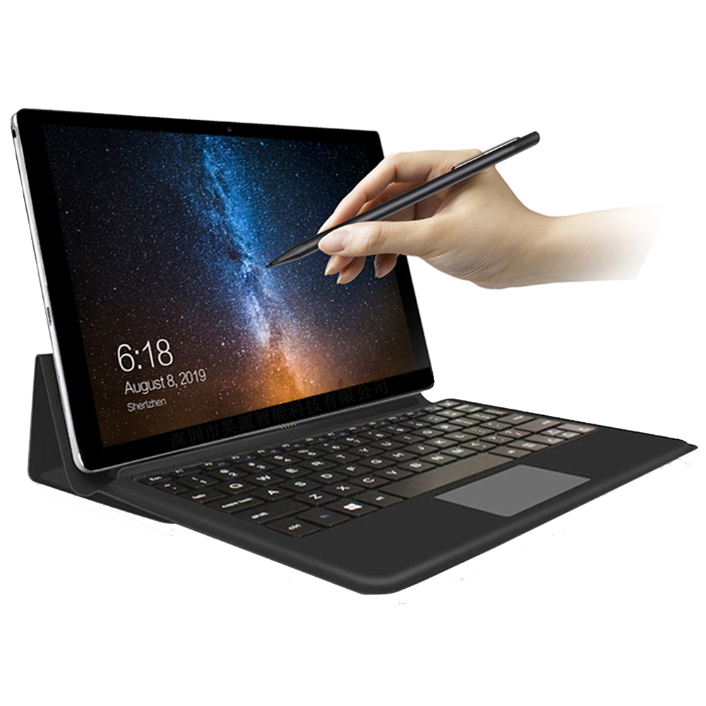 """Tablet portátil 11.6 """"Polegada android tablet 2 em 1 10 núcleos jogos de filme música tablets gps wifi 4g sim cartão telefone de chamada com teclado"""