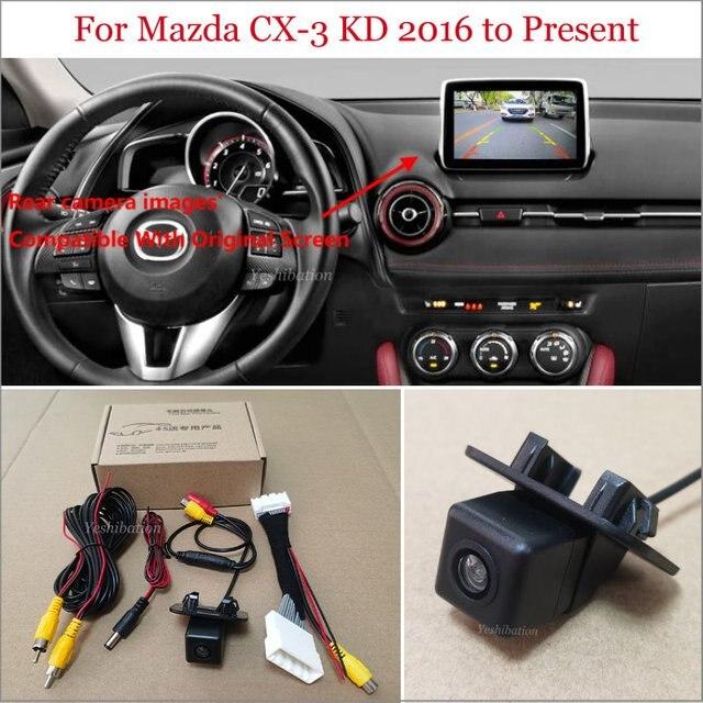 Yeshibationรถดูด้านหลังกล้องสำหรับมาสด้าCX 3 CX3 CX 3 KD 2016 Pr ย้อนกลับกล้องRCA & Original Screen Compatible