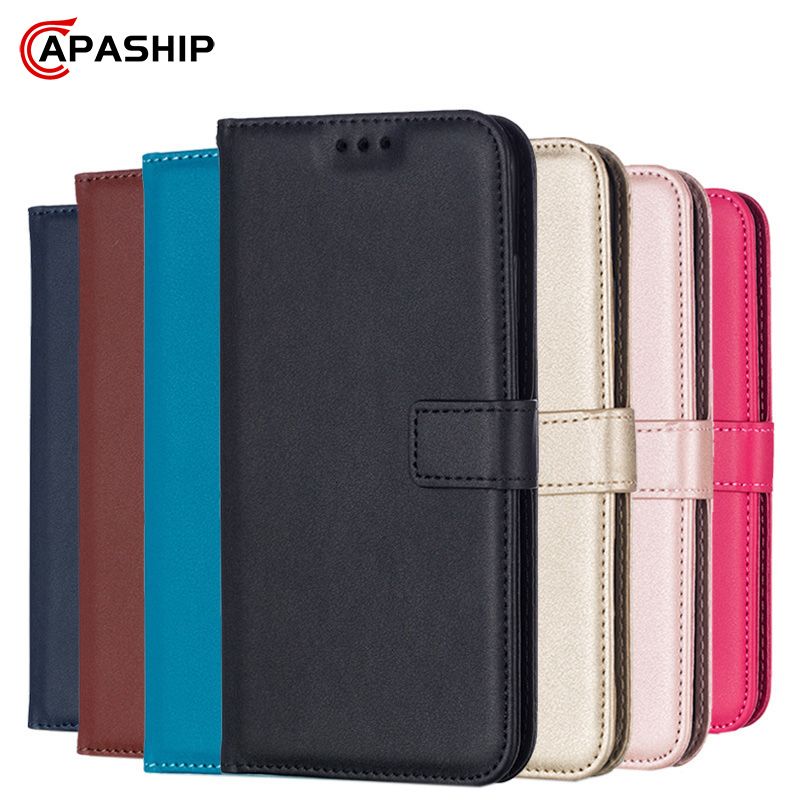 Leather Flip Wallet Case For Samsung Galaxy J4 J6 Plus J8 J2 Pro 2018 J3 J5 J7 Core Prime 2015 2016 2017 Cases Cover Phone Bags(China)