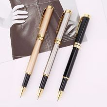Luxury Metal Ballpoint Pen Signature Black Ink Gel Pens Stationery Office Supplies Business Gifts luxury roller gel pen business conference signature pen good quality student gel ink pens free shipping