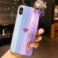 Stilvolle Telefon Halter Fall Für Xiaomi Redmi hinweis 8 pro 9 9s hinweis 7 10X K20 K30 PRO k40 mi 9 T CC9 A3 POCO X3 X2 Handgelenk Strap abdeckung