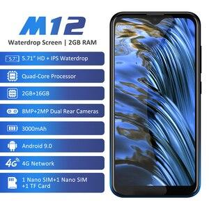 "Image 2 - Leagoo M12 Mobiele Telefoon 5.7 ""19:9 Hd + Ips Waterdrop Screen 2 Gb Ram 16 Gb Rom Android 9.0 MT6739V 3000 Mah 8MP Camera 4G Smartphone"