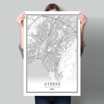 Greece Black White World City Map Poster Nordic Living Room Athens Tripolis patra Wall Art Pictures Home Decor Canvas Painting image