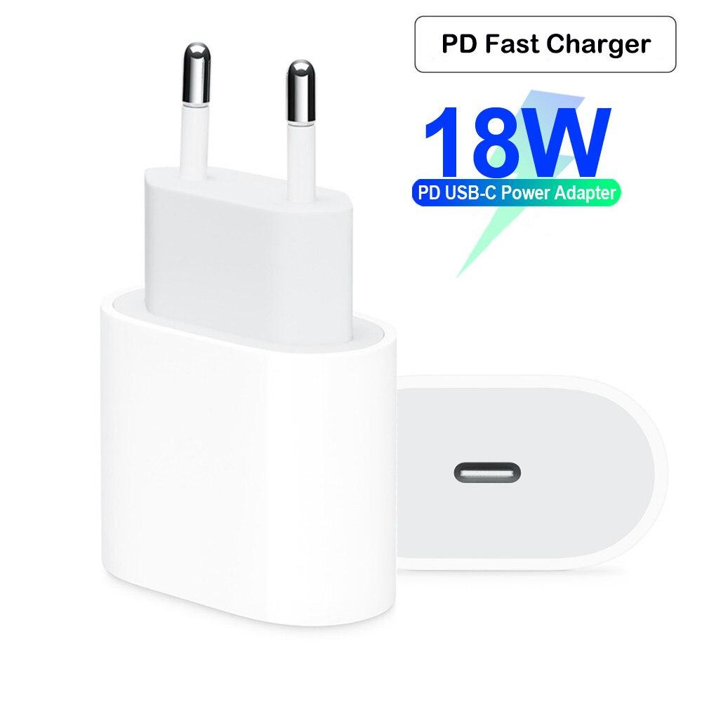 18 w usb tipo c carregador adaptador para iphone 11 pro xs max x xr 8 mais pd carregamento rápido tipo de energia-c ue eua plug para apple carregador