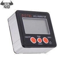 DANIU 0,1 ° 360 Grad Große LCD Digital Winkelmesser Neigungs Magnetische Elektronische Winkel Ebene Box Gauge Protractors Werkzeug