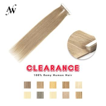 AW 16'' 20'' 24'' Straight Hand Tied Tape PU SkIn Adhesive Human Hair Extensions Natural Seamless Remy Tape In Hair Extensions 14 color tape in hair extensions human hair machine remy pu skin weft color 14 24 inch straight tape hair extensions human hair